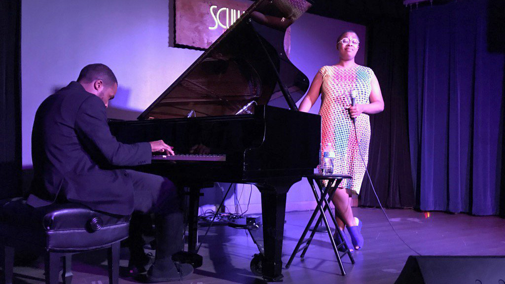 Sullivan Fortner and Cecile McLorin Salvant at Scullers Jazz Club in Boston