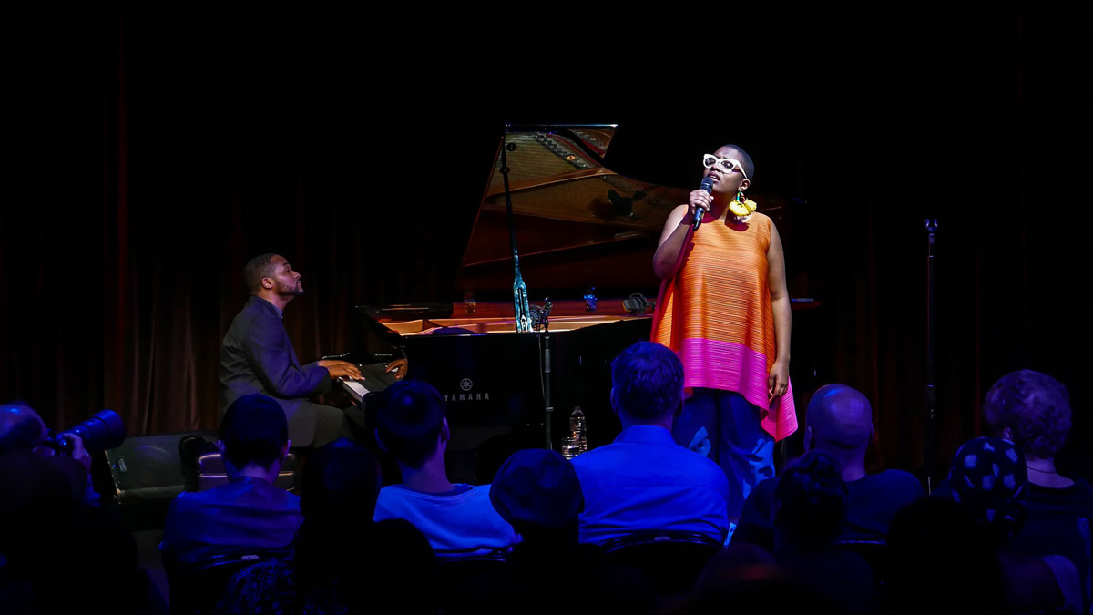 Sullivan Fortner and Cecile McLorin Salvant at Harlem Stage Gatehouse