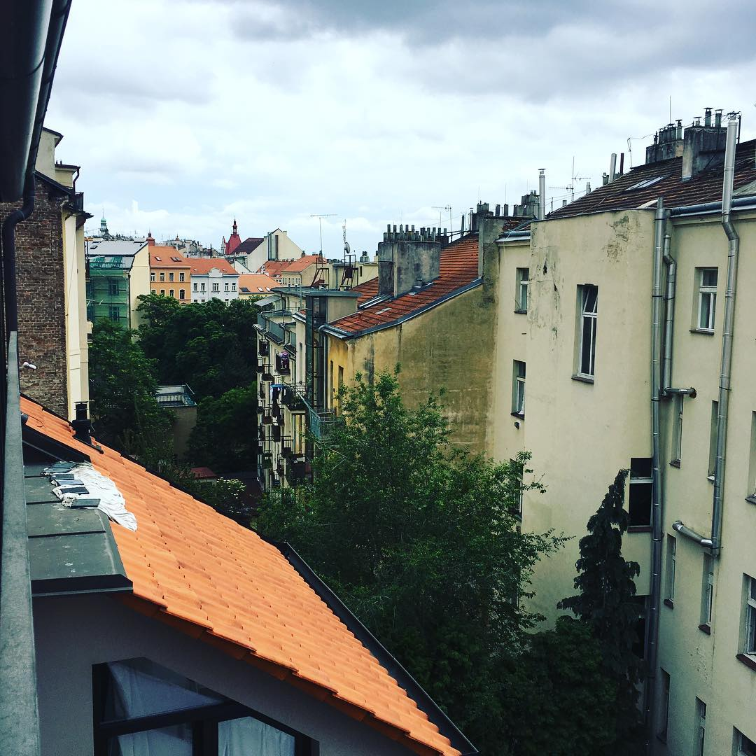 View from Drew's room in Prague