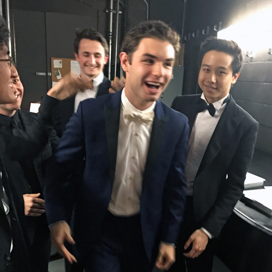 Backstage with the finalists