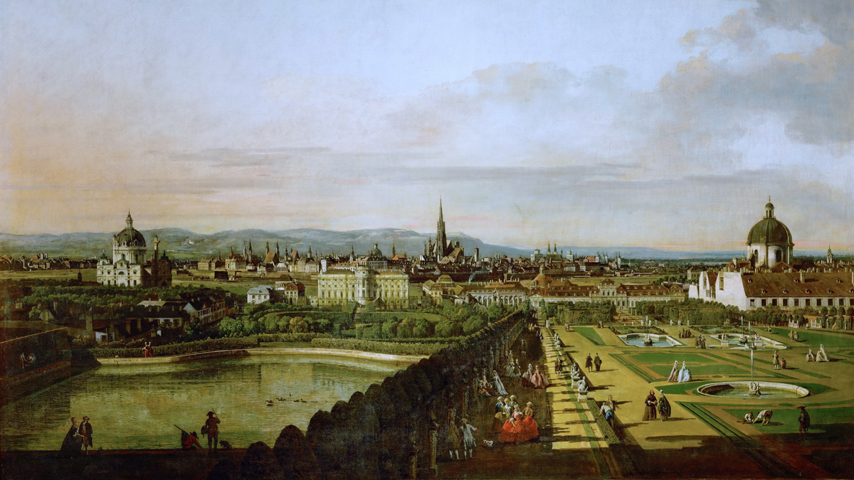 View of Vienna by Bernardo Bellotto